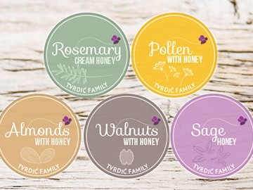 Honey Labels for Tvrdic Family